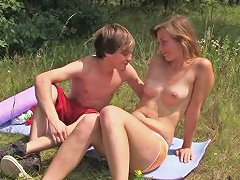 Young Teen Pleases Boyfriend With Blowjob