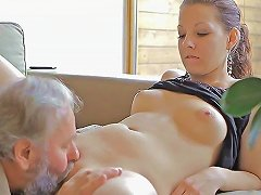 Old Man Still In His Years Gets To Fuck Beautiful Vaginas