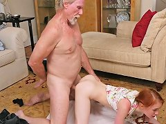 Petite Ginger Teen Doggystyling Oldmans Cock Free Porn 52