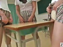 Subtitled Japanese Schoolgirls In Thongs Butt Judging